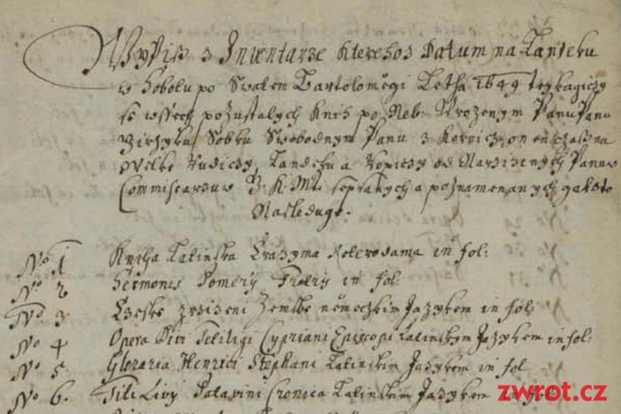 O knižních sbírkách Jerzyho Sobka z Kornic