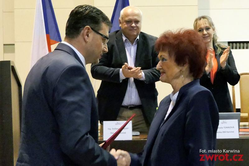 Medaile Václava Olszaka pro Halinu Molin