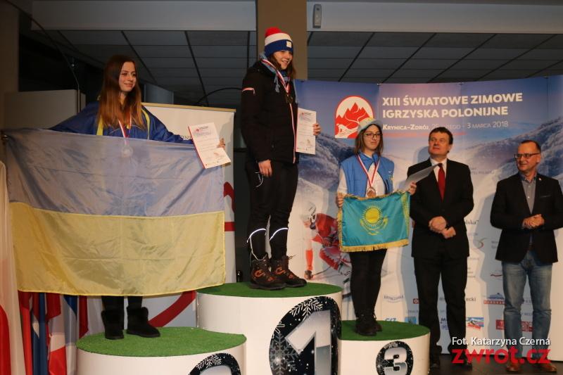 13. Světové zimní hry Polonie, první medaile