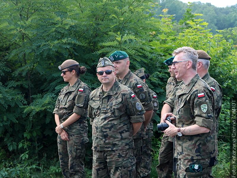 Polští vojáci přijeli na jednodenní návštěvu