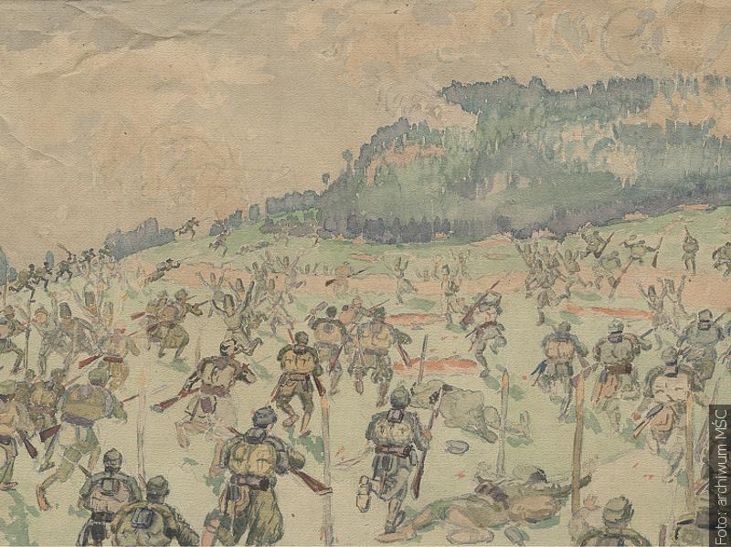 Válečná stezka na obrazech