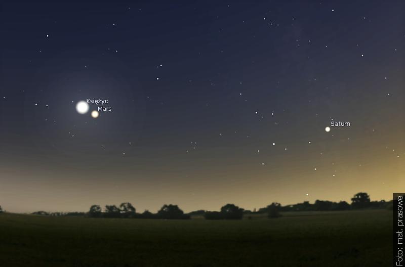 Zwrot astronomicky: Večer se Měsíc přiblíží k Marsu