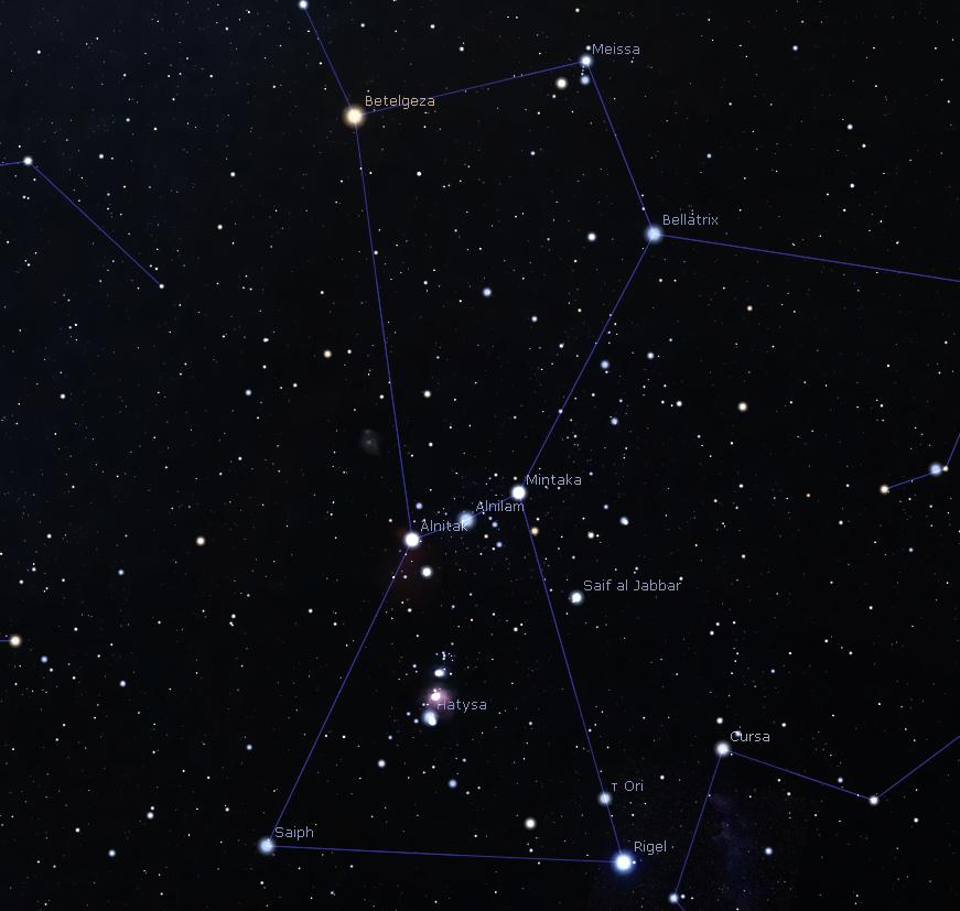 """""""Zwrot"""" astronomicky: V první polovině noci Orion a ráno planety a půlměsíc"""