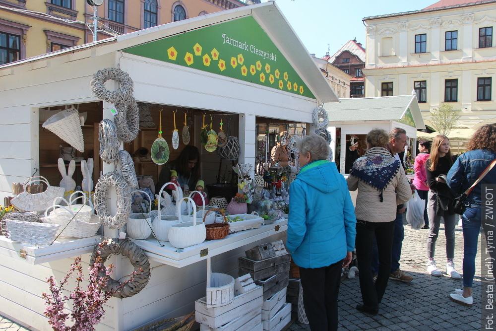 Na těšínském Rynku je nejenom Velikonoční jarmark