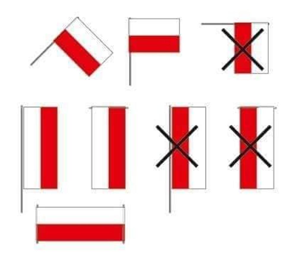 Jak správně pověsit polskou vlajku