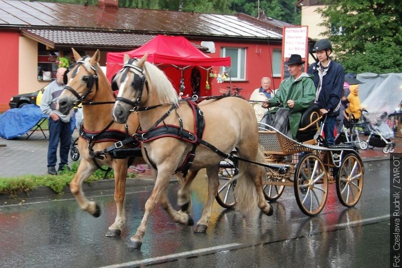Déšť a bláto neodradily účastníky závodů koňských spřežení