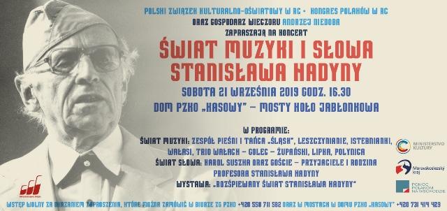 V Mostech budou vzpomínat Stanisława Hadynu