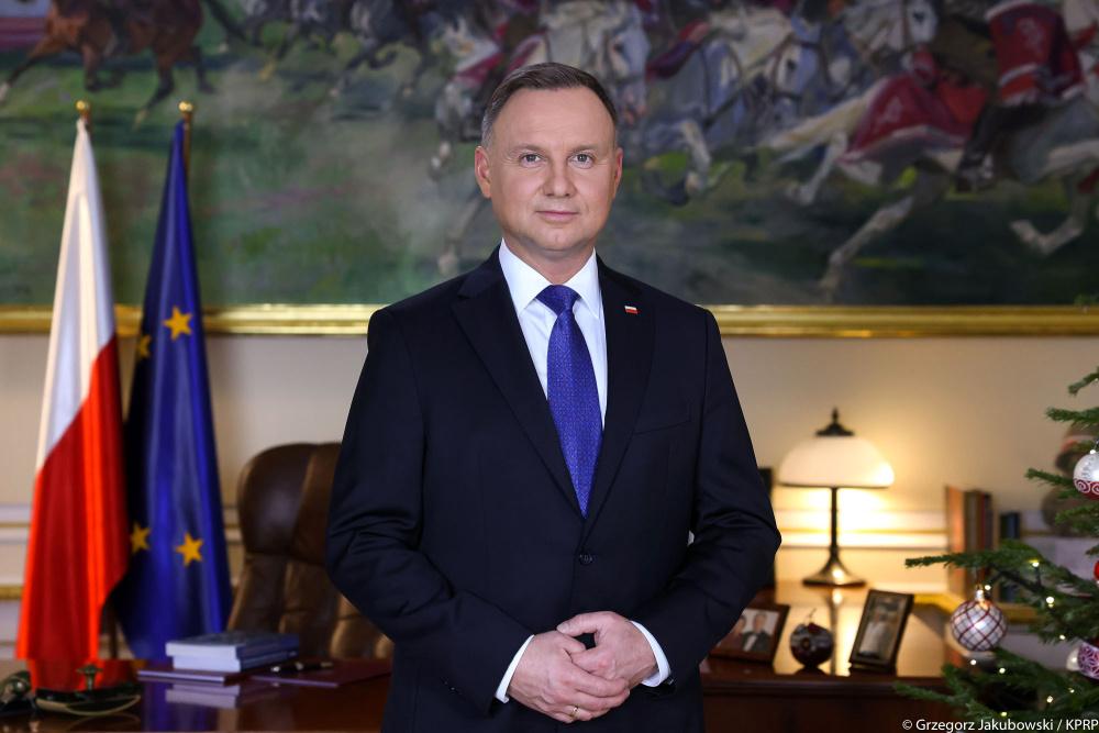 Novoroční poselství polského prezidenta   Andrzeje Dudy