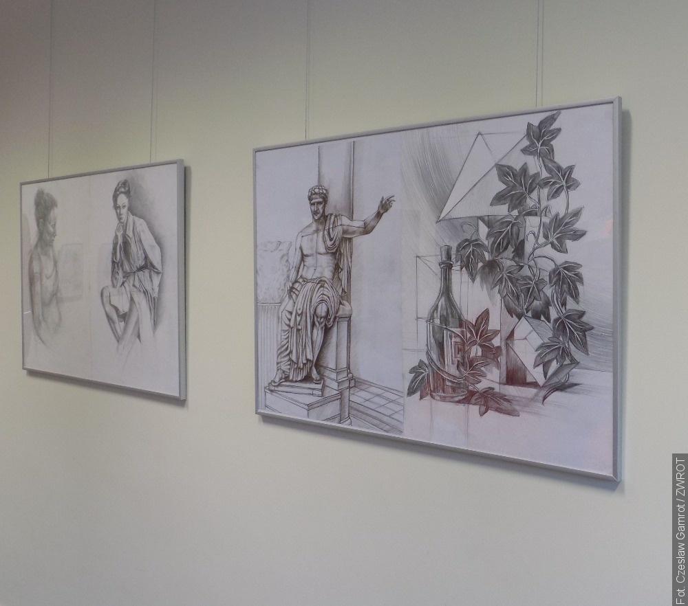 """Wystawa w """"Czerni i bieli"""" w wiślańskiej bibliotece"""