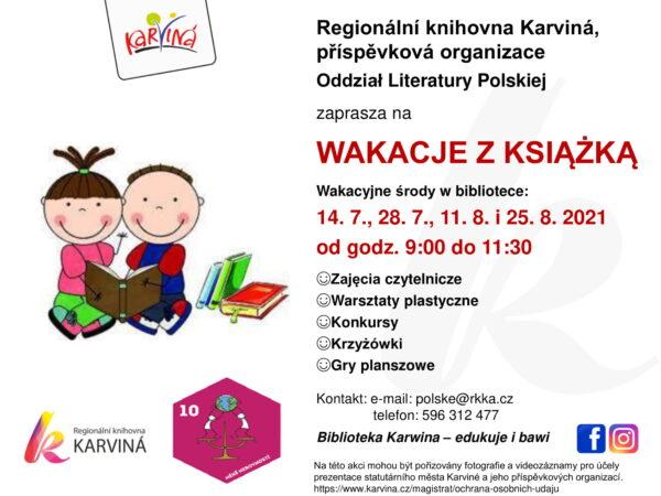 """Knihovna v Karviné zve na """"Prázdniny s knihou"""""""