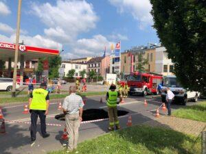 V Cieszyně se propadla silnice!