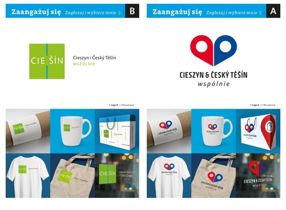 Města Cieszyn a Český Těšín budou mít společné logo. Vybrat si můžete ze dvou návrhů